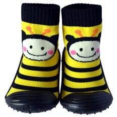 Hausschuhe - Socken Baby Kind geschmeidige Schuhsohle Mädchen | Biene