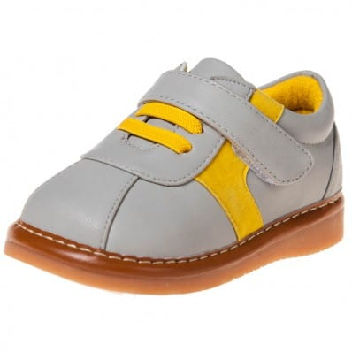 http://cdn2.chausson-de-bebe.com/5612-thickbox_default/little-blue-lamb-squeaky-leather-toddler-boys-shoes-grey-and-yellow-sneakers.jpg