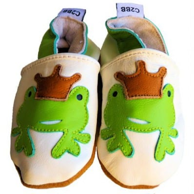 Soft leather baby shoes girls | Frog