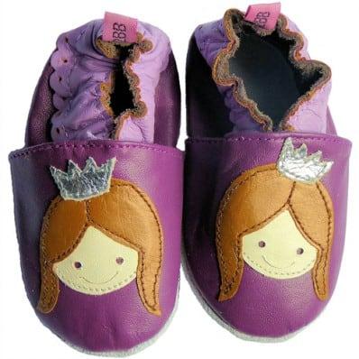 Chausson bébé cuir souple | Violet princesse