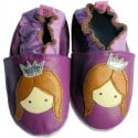 Soft leather baby shoes girls | Purple princess