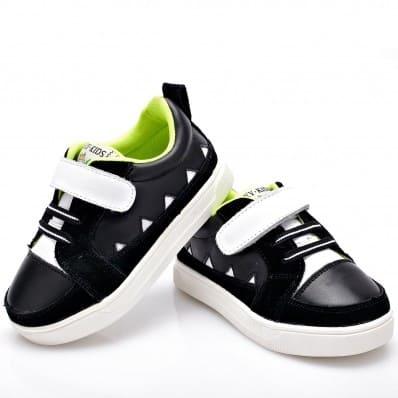 YXY - Zapatos de suela de goma blanda niños | Zapatillas de deporte negras strip blanco