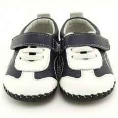 FREYCOO - Chaussures premiers pas cuir souple | Baskets bleu