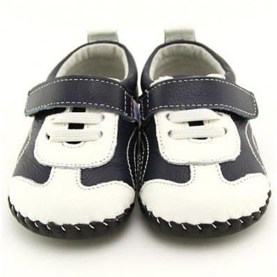 FREYCOO - Zapatos de bebe primeros pasos de cuero niños | Zapatillas de deporte azul