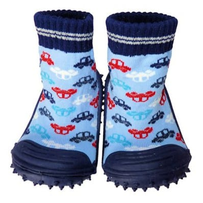 Hausschuhe - Socken Baby Kind geschmeidige Schuhsohle Junge   Autos