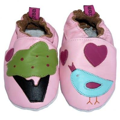 Zapitillas de bebe de cuero suave niñas antideslizante | Piou-piou