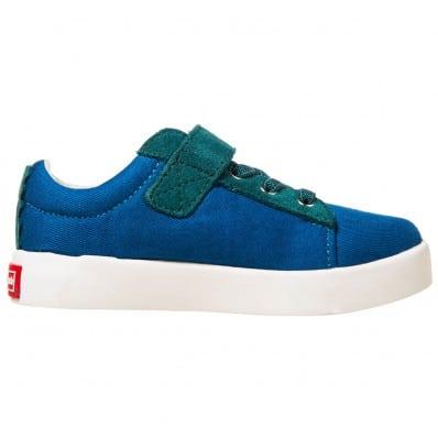 Little Blue Lamb - Soft sole boys Toddler kids baby shoes | Velvet blue sneakers