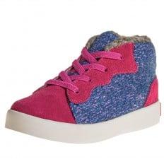 Little Blue Lamb - Krabbelschuhe Babyschuhe  Leder - Mädchen | Sneakers rosa blau samt