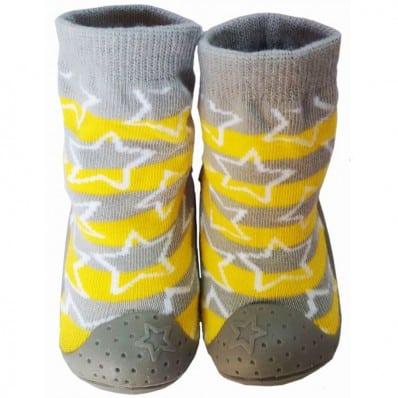 Scarpine calzini antiscivolo bambini - ragazzo | Stella giallo