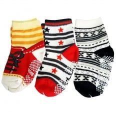 3 paia di calzini antisdrucciolo bambino di 1 a 3 anni | Ragazzo 29