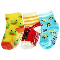 3 paires de chaussettes antidérapantes bébé enfant de 1 à 3 ans | Lot 3