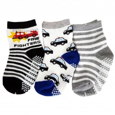 3 paia di calzini antisdrucciolo bambino di 1 a 3 anni   Ragazzo 4