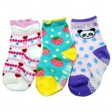 3 paires de chaussettes antidérapantes bébé enfant de 1 à 3 ans | Lot 28