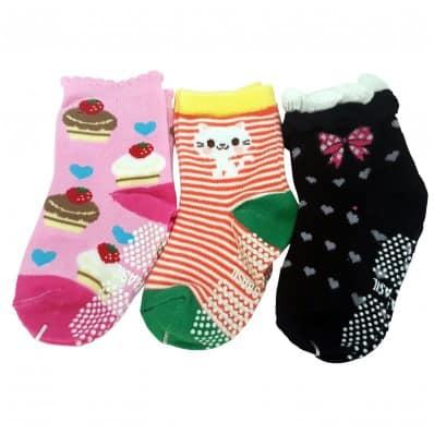 3 paires de chaussettes antidérapantes bébé enfant de 1 à 3 ans | Lot 10 C2BB - chaussons, chaussures, chaussettes pour bébé