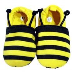 Chaussons bébé enfant toile et tissu | Abeille