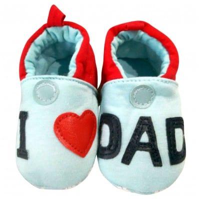 Babyschuhe baumwolle mädchen   I love dad