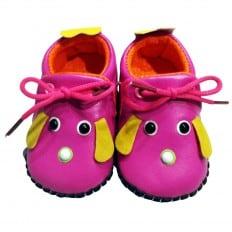 C2BB - Zapatos de bebe primeros pasos de cuero niñas | Mr shoes amarillo