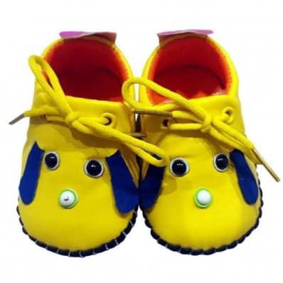 C2BB - Scarpine primi passi bimba in morbida pelle | Mr shoes giallo