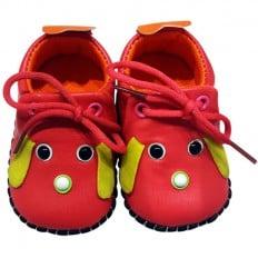 C2BB - Krabbelschuhe Babyschuhe Leder - Mädchen | Mr shoes Himbeere