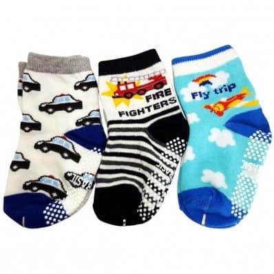 El Lot de 3 calcetines antideslizante para niños | Lot 37