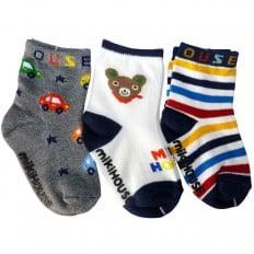 3 paia di calzini antisdrucciolo bambino di 1 a 3 anni | Ragazzo 25