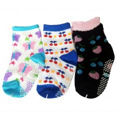3 paires de chaussettes antidérapantes bébé enfant de 1 à 3 ans | Lot 17