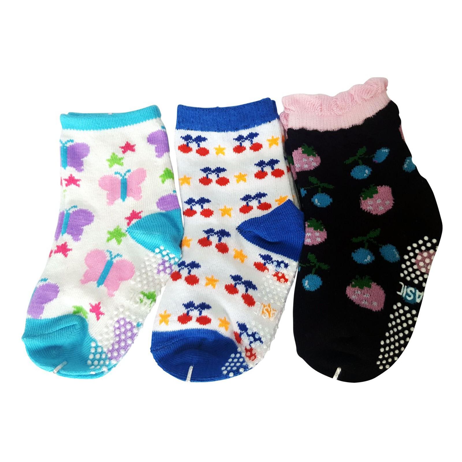 12 paires de chaussettes antid/érapantes pour b/éb/é de 12 /à 36 mois ou 3 /à 5 ans