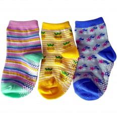 3 paia di calzini antisdrucciolo bambino di 1 a 3 anni | Ragazza 13