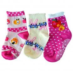 3 paia di calzini antisdrucciolo bambino di 1 a 3 anni | Ragazza 15
