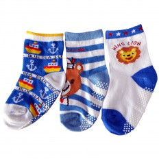 3 paires de chaussettes antidérapantes bébé enfant de 1 à 3 ans | Lot 34