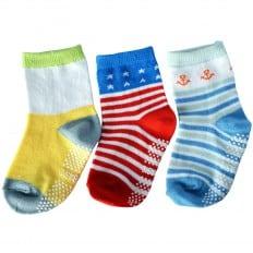3 paires de chaussettes antidérapantes bébé enfant de 1 à 3 ans | Lot 36