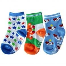 3 paia di calzini antisdrucciolo bambino di 1 a 3 anni | Ragazzo 35