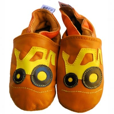 Soft leather baby shoes boys | Excavator
