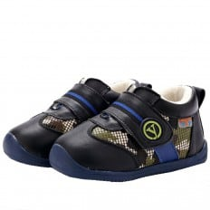 YXY - Zapatos de suela de goma blanda niños | Zapatillas de deporte negras y militares