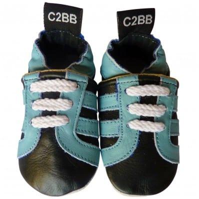 Chaussons en cuir souple BASKETS C2BB - chaussons, chaussures, chaussettes pour bébé
