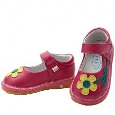 YXY - Chaussures à sifflet | Babies rose fleur jaune