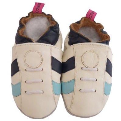 Krabbelschuhe Babyschuhe geschmeidiges Leder - Junge | Sneakers weiß