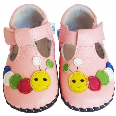 FREYCOO - Baby boys first steps soft leather shoes   Caterpillar