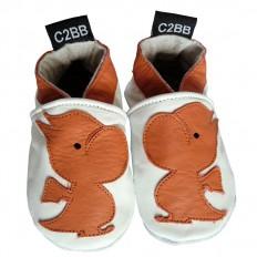 Krabbelschuhe Babyschuhe geschmeidiges Leder - Junge | Kleiner Drache