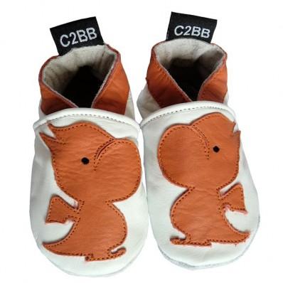 Chausson de bébé cuir souple | Petit dragon C2BB - chaussons, chaussures, chaussettes pour bébé