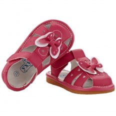 YXY - Krabbelschuhe Babyschuhe squeaky Leder - Mädchen | Rosa sandalen