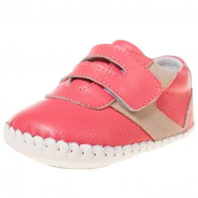 Little Blue Lamb - Krabbelschuhe Babyschuhe Leder - Mädchen | lachs sneakers