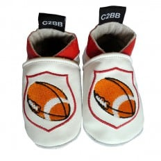 Soft leather baby shoes boys | Rugby