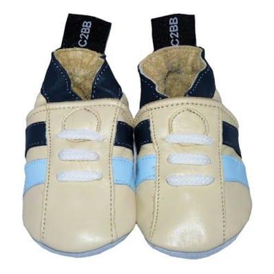 Krabbelschuhe Babyschuhe geschmeidiges Leder - Junge   Beige sneakers