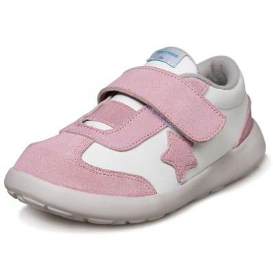 Little Blue Lamb - Krabbelschuhe Babyschuher OG - Mädchen   Rosa sneakers stern