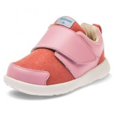 Little Blue Lamb - Chaussures semelle souple OG | Baskets rose et saumon