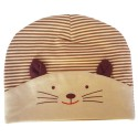 C2BB - Baby hat small cat - one size | Beige and brown