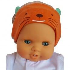 C2BB - Babymützen Kätzchen - one size | Brau und orange