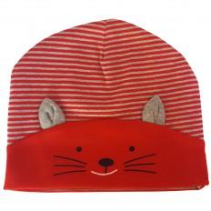 C2BB - cappello del bambino gattino - one size | Rosso e grigio