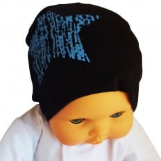 C2BB - Baby hat - one size | Black blue star